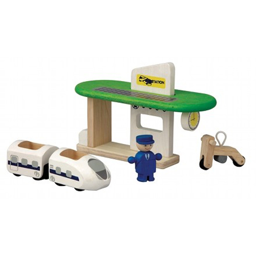 Plan Toys Train Joys : Plan toys eco train station toy madness