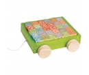EverEarth 30pcs Alphabet Blocks Pull Along Wagon