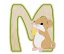 EverEarth Bamboo Letter M for Mouse