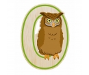 EverEarth Bamboo Letter O for Owl