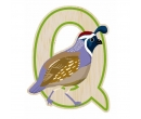 EverEarth Bamboo Letter Q for Quail