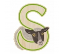 EverEarth Bamboo Letter S for Sheep
