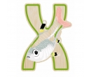 EverEarth Bamboo Letter X for Xray Fish